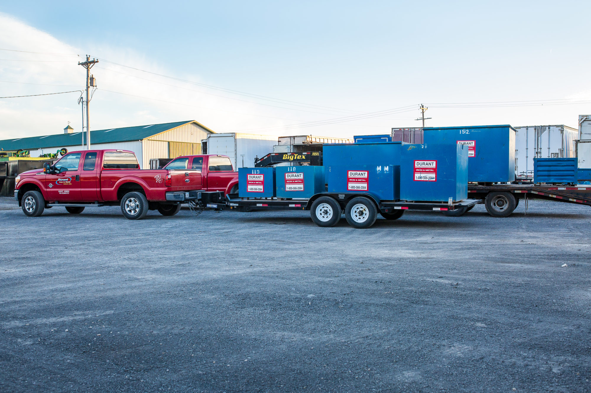 Trucks and containers for on-site collection